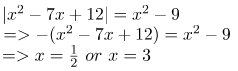 Solving absolute value quadratic equation