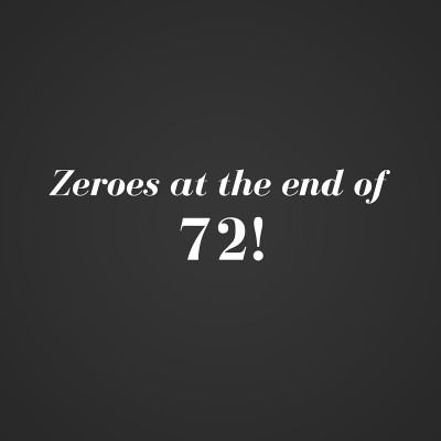 Zeroes at the end of a factorial