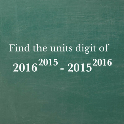 Units digit of large number