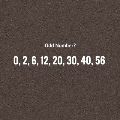 Find the odd number in the series